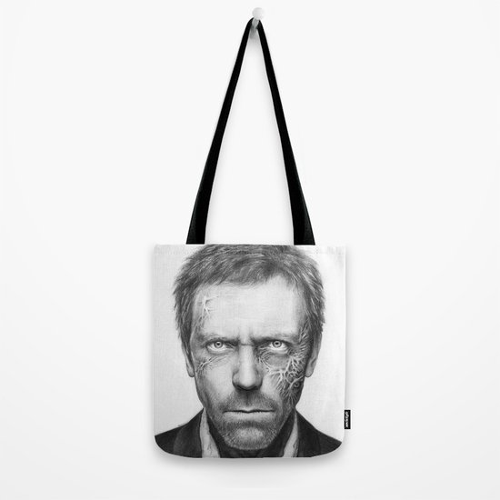 Hugh Laurie from House MD Doctor House Tote Bag