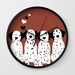 Dalmatas Wall Clock