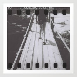 the unhurried walker Art Print