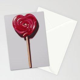 Love candy lollipop nursery art print Stationery Cards
