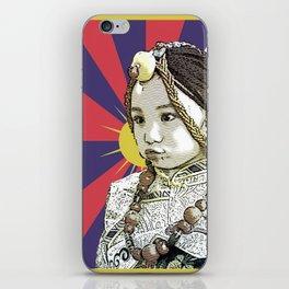 A little Tibetan girl iPhone Skin