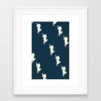 rabbits Framed Art Prints featuring Rabbits by Alma Vescovi