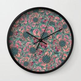 P242020 Colourburst flowers mint Wall Clock