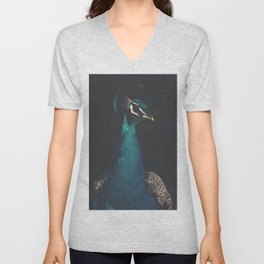 peacock and proud Unisex V-Neck