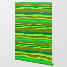 Green Multi Brush Strokes Wallpaper