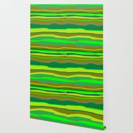 Green Multi Brush Strokes Wallpaper
