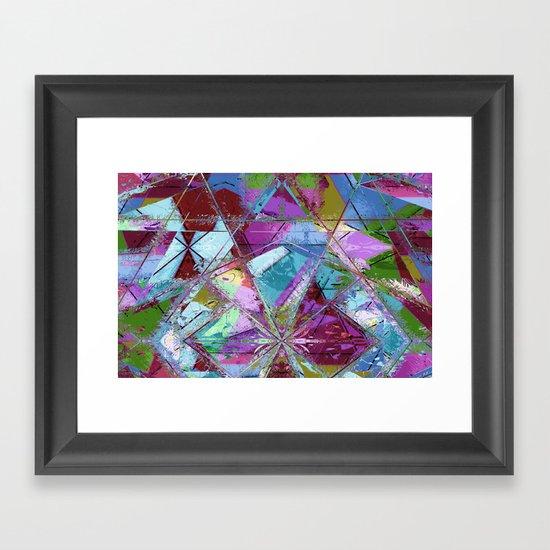 Abstract geometrics Framed Art Print