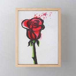 Ink Splatter Rose Framed Mini Art Print