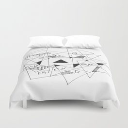 Triangles are a Girls Best Friend Duvet Cover