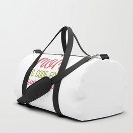 MOM is code for SUPERHERO Duffle Bag
