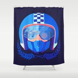 Lightspeed Racer Shower Curtain