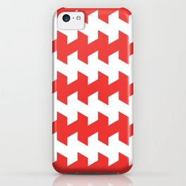 jaggered and staggered in poppy red iPhone Case