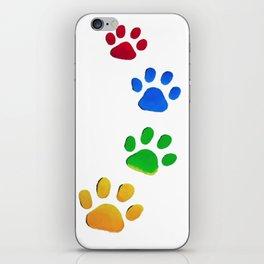 Dog Paw Painting iPhone Skin