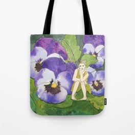 Pansy Faery Tote Bag