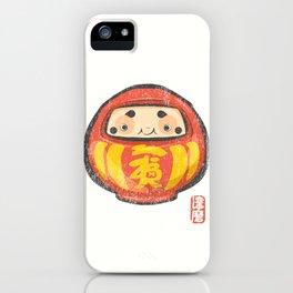 Daruma [Special Lucky Toy Box] iPhone Case