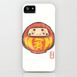 Daruma [Special Lucky Toy Box] iPhone Case