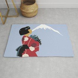 Japonesa y el volcan Rug