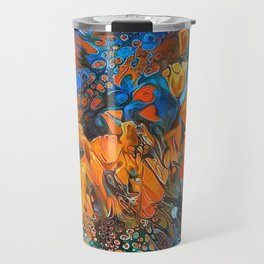 Golden Poppies in the Wind Travel Mug