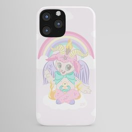 Baphomet Baptism by Fire iPhone Case
