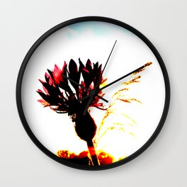 Centaurea flower Wall Clock
