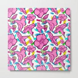 Cute Bright Floral Print Metal Print