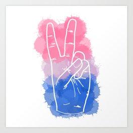 Bisexual Pride Art Print