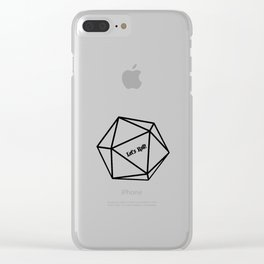 Let's Roll! D20 Clear iPhone Case