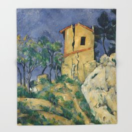 """Paul Cezanne """"The House with the Cracked Walls"""" Throw Blanket"""
