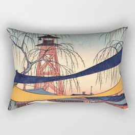 Utagawa Hiroshige - 100 Famous Views of Edo - Bakurocho, Hatsune's Baba Rectangular Pillow