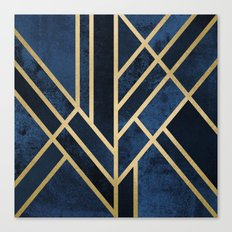 Art Deco Midnight Canvas Print