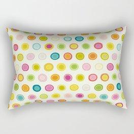 circle spot cream Rectangular Pillow