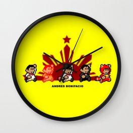 8-bit Andres Bonifacio 2 Wall Clock