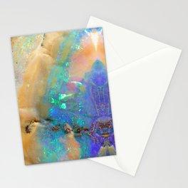Aquamarine Opal Gemstone Marble Rock Mineral Pattern Stationery Cards
