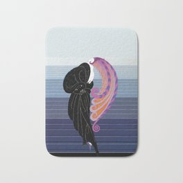 "Art Deco Illustration ""Beauty and the Beast"" by Erté Bath Mat"