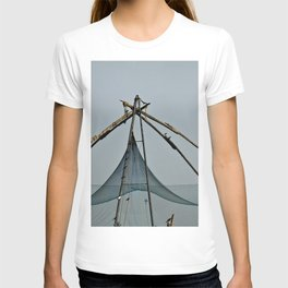 Traditional Chinese Fishing Net and birds, India T-shirt
