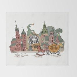 Old Europe. Krakow Throw Blanket