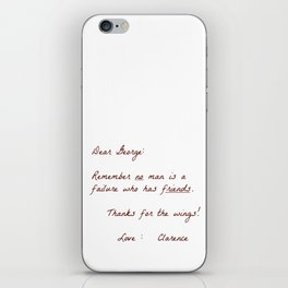 Dear George iPhone Skin