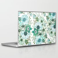oana befort Laptop & iPad Skins featuring FLORALS by Oana Befort