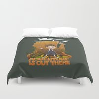 adventure is out there Duvet Covers featuring Adventure by BlancaJP