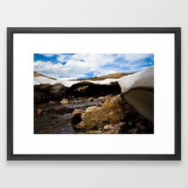 Glacier Framed Art Print