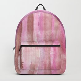 Pink White & Brown Modern Fluid Colors background Backpack