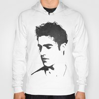 darren criss Hoodies featuring Darren Criss Portrait by laurenschroer