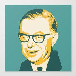 Jean-Paul Sartre Canvas Print