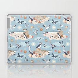 Coastal Birds Pattern Laptop & iPad Skin