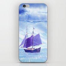 Sailing in Winter iPhone & iPod Skin