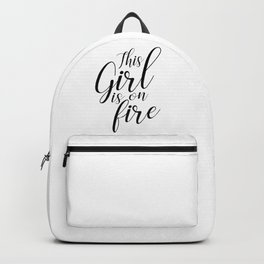 This girl is on fire Backpack