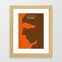 No734 My La Haine minimal movie poster Framed Art Print