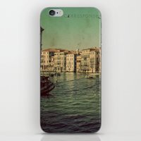 postcard iPhone & iPod Skins featuring Venice postcard by Sylvia Cook Photography