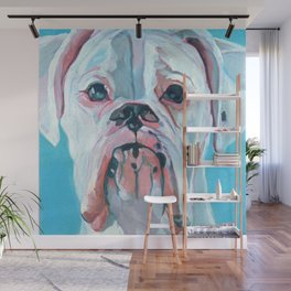 Otis the White Boxer Wall Mural