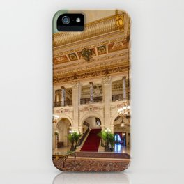 Newport Mansions, Rhode Island - The Breakers Grand Hall by Jeanpaul Ferro iPhone Case